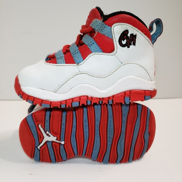 649189678e Nike Air Jordan Retro 10 Chicago Flag Toddler 5c